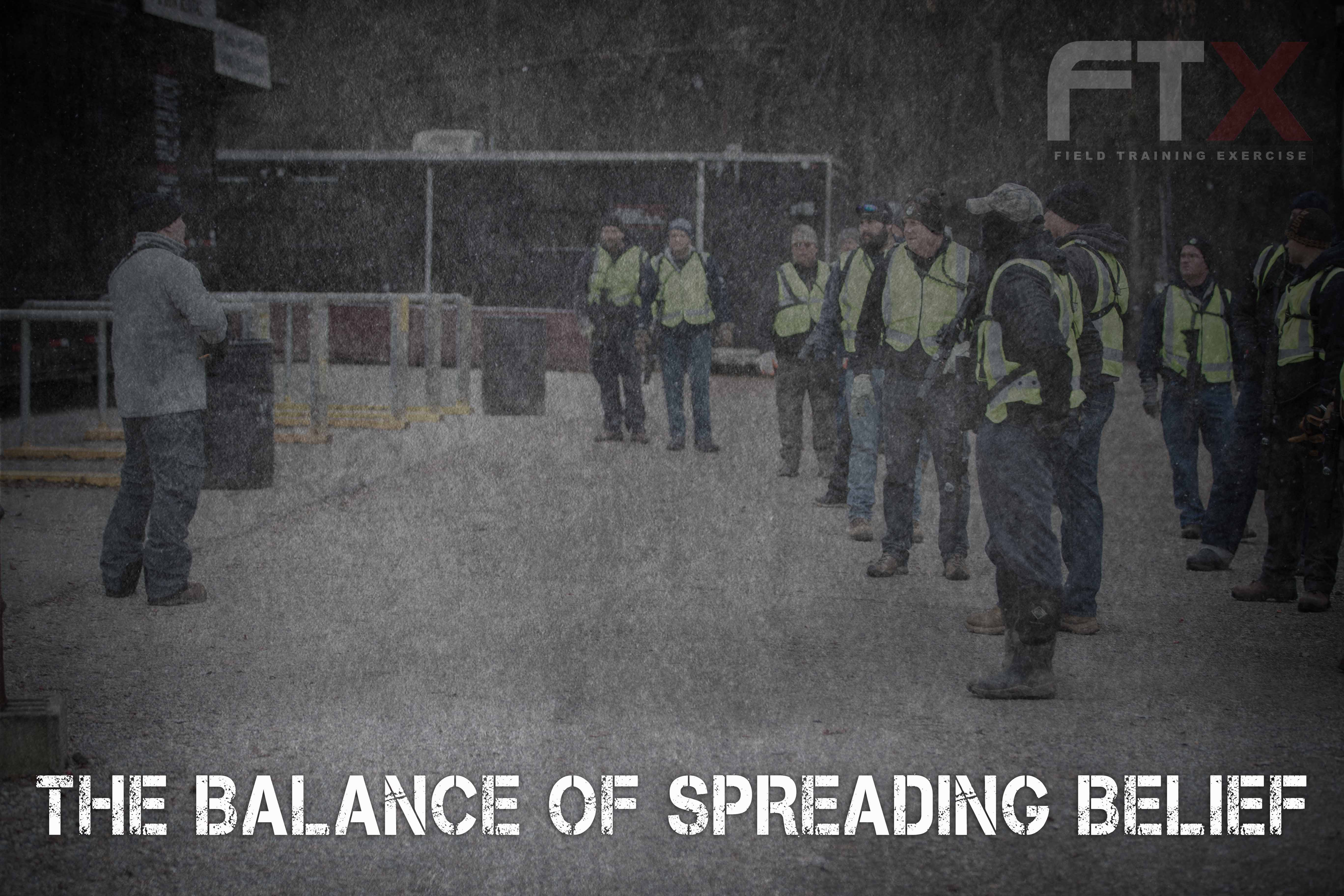 THE BALANCE OF SPREADING BELIEF - Echelon Front